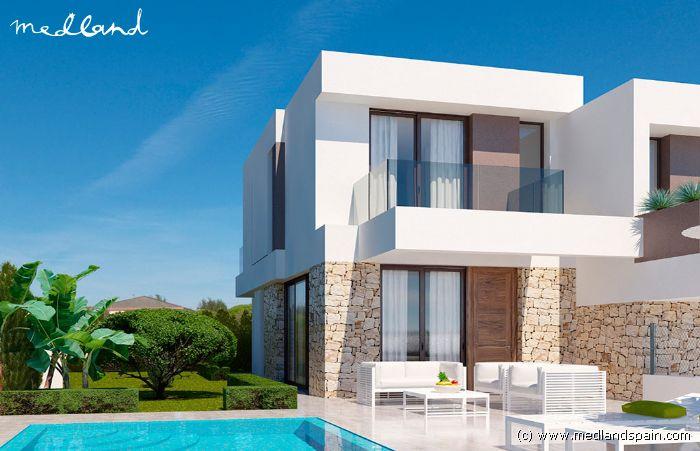 maison mitoyenne design avec piscine prive finestrat