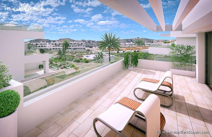 Appartement Avec 1 Chambre Et Une Grande Terrasse Avec Vue Sur Mer à  Finestrat, Benidorm