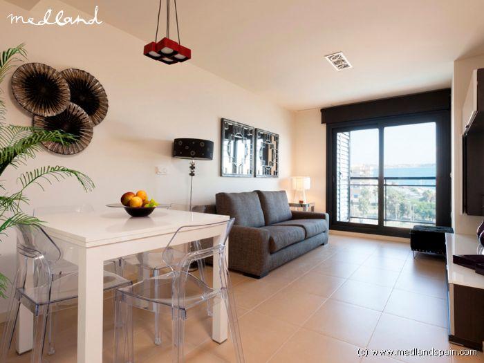 Apartamento con vistas en primera l nea de playa en mil - Casas para alquilar en las mil palmeras ...
