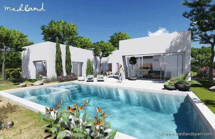 Villa de luxe avec grand terrain dans la station chic balnéaire de las colinas golf