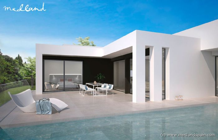 Moderne Villa mit Meerblick in Cumbre del Sol